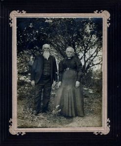 my not smiling great grandparents