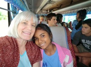 Chanra and I on our first bus trip