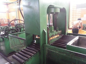 into the compressor