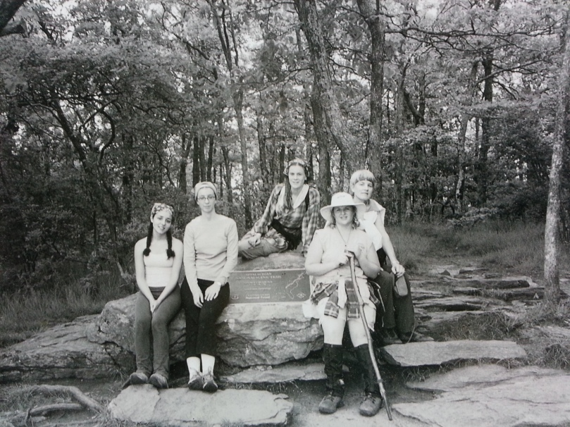 At Springer Mountain after four days on the trail.