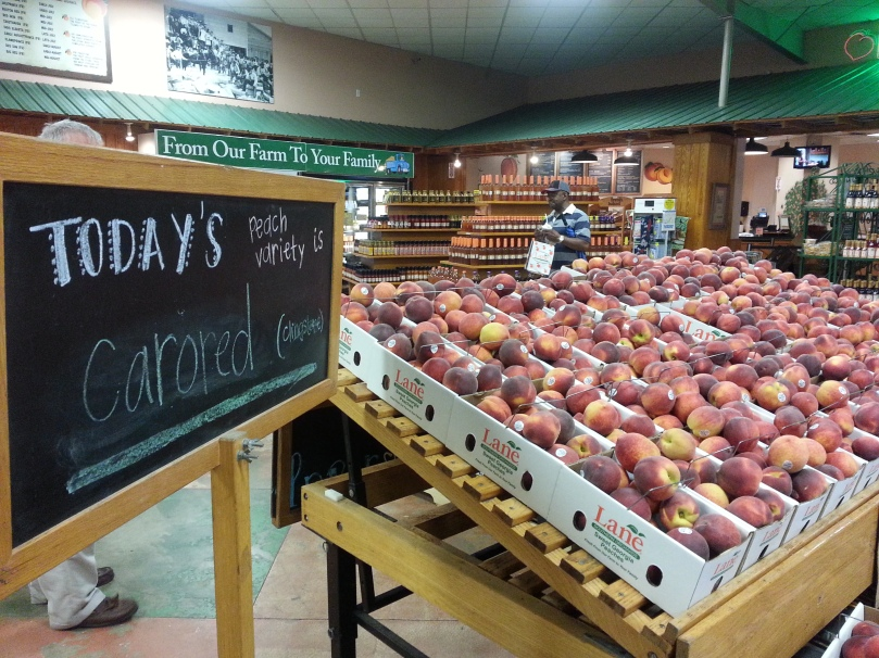 This is a variety called Carored and they are perfect looking peaches!