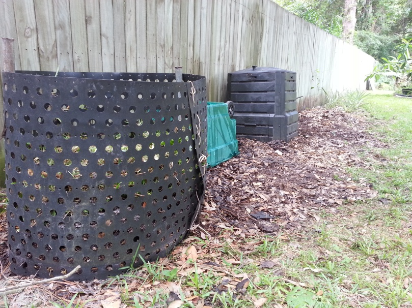 """Compost bins after being emptied.  No """"before"""" shot - too gross."""