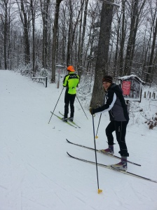 Skis on Julie