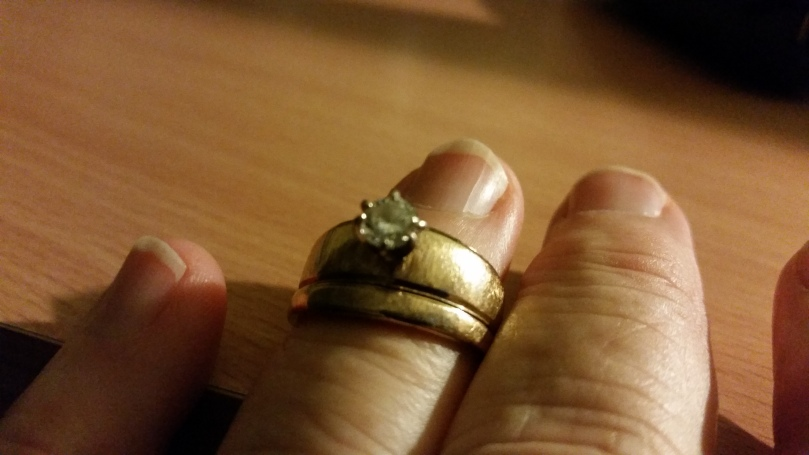 I remember the night I first saw this ring... back when it still fit.
