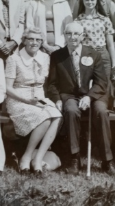 Vera and John Boone at a family reunion around 1975.