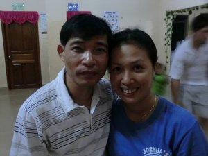 Houseparents Kien Khea (An) on left and Raksmey Oum (Smey) on right.