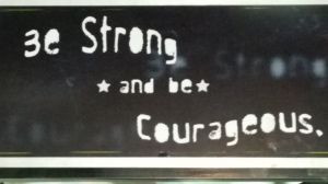 sign in Digby's cafe and a good saying to remember