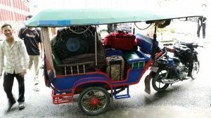 This tuk tuk has no more room.