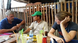 At lunch, discussing the needs of Asia Hope homes with director Savorn