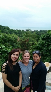 Dr. V Chen, Dr. Julia Dietz and midwife Bora Kon at the Infinity Pool, Veranda Natural Resort