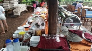 Assortments of fruits, everything Westerners have for breakfast (everything, really) plus all the Cambodian favorites