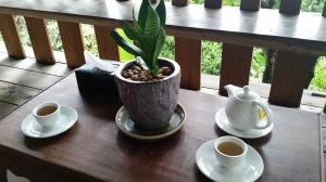 Tea after our massage session