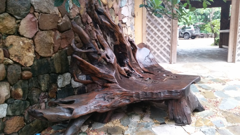 Tree root chair