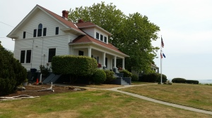 one of the two houses, formerly for the lighthouse tender, now for a Coast Guard 2 star Admiral and his family.