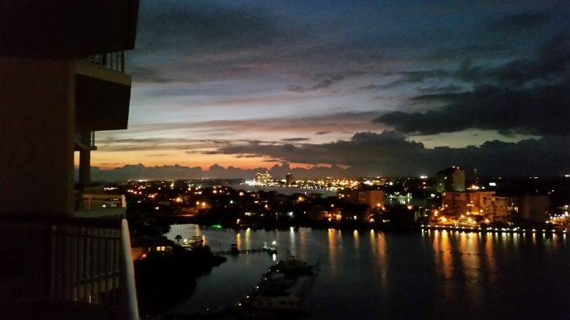 The peaceful view from a balcony. Love it here...