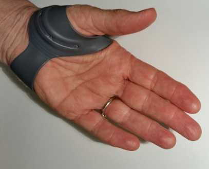 small, water proof, allows use of hand