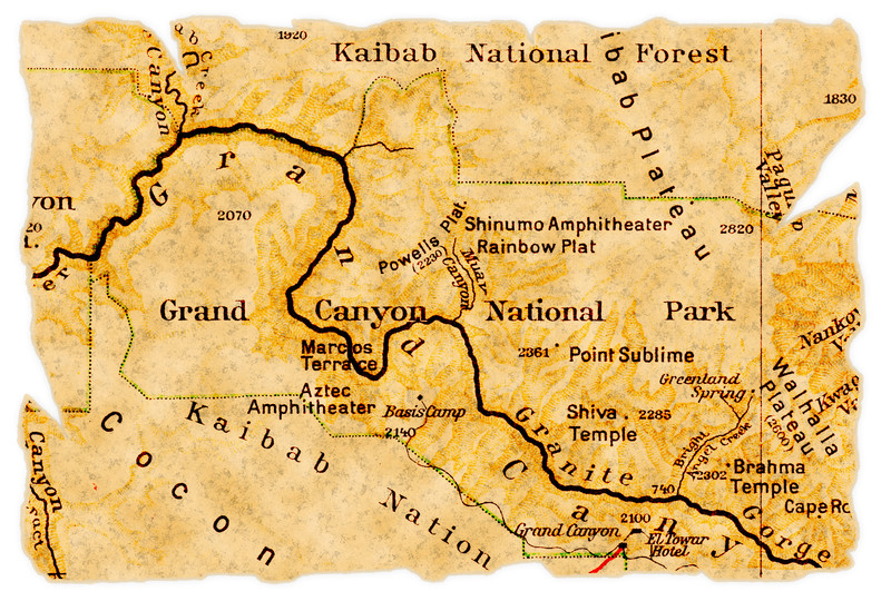 map of Grand Canyon National Park